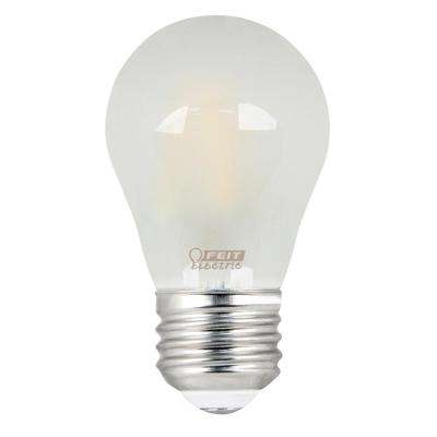 40W Equivalent Soft White A15 Dimmable Frosted Filament LED Medium Base Light Bulb (Case of 24)