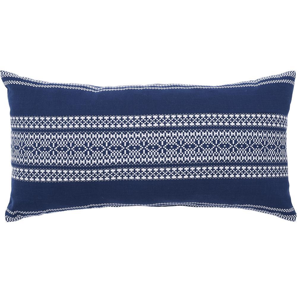 Clayton Navy 12 in. x 24 in. Blue Standard Pillow