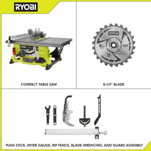 Ryobi 13 Amp 8 1 4 In Table Saw Rts08 The Home Depot