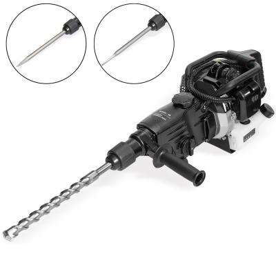 32.7 cc Gasoline Demolition Concrete Breaker Hammer and Drill Kit with Chisel Bits