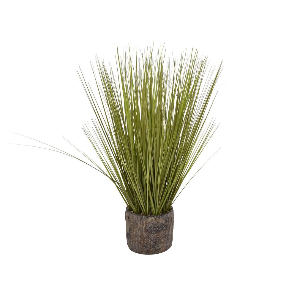 THREE HANDS 24 in. Faux Grass in Flower Pot 12252