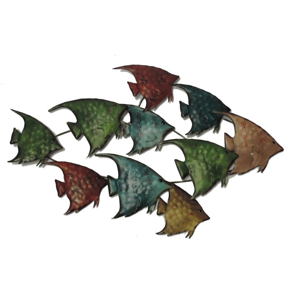 Three Dimensional Metal Fish Wall Decor