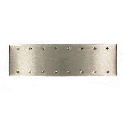 8-Gang No Device Blank Wallplate, Standard Size, 302 Stainless Steel, Box Mount, Stainless Steel