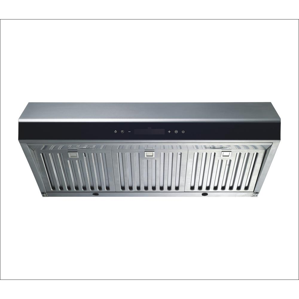 Winflo 30 in under cabinet ducted kitchen range hood in - Kitchen hood under cabinet ...