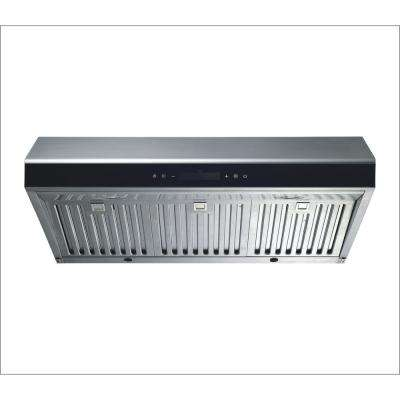 30 in. Under Cabinet Ducted Kitchen Range Hood in Stainless Steel with LED Lights and Touch Control
