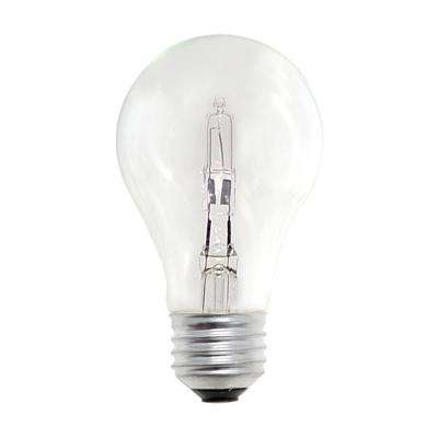 53-Watt A19 Dimmable Soft White Light Halogen Light Bulb (12-Pack)