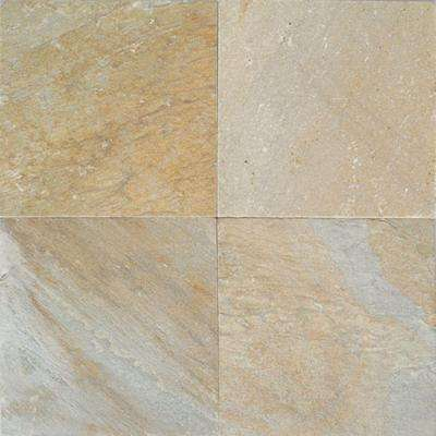 Natural Stone Collection Golden Sun 12 in. x 12 in. Slate Floor and Wall Tile (10 sq. ft. / case)