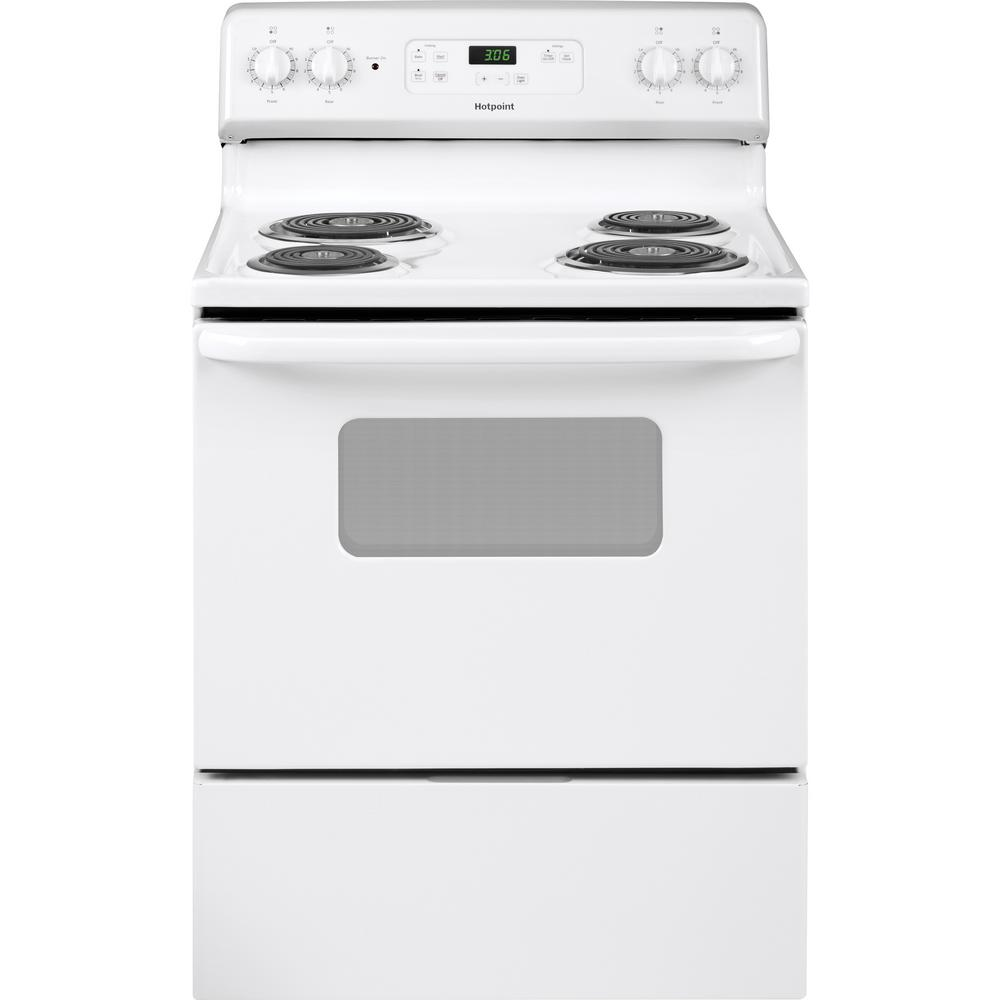 Hotpoint 30 in  5 0 cu  ft  Electric Range Oven in White