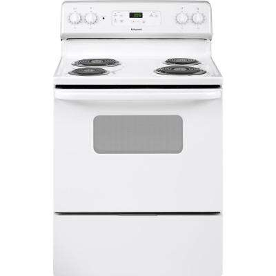 30 in. 5.0 cu. ft. Electric Range Oven in White