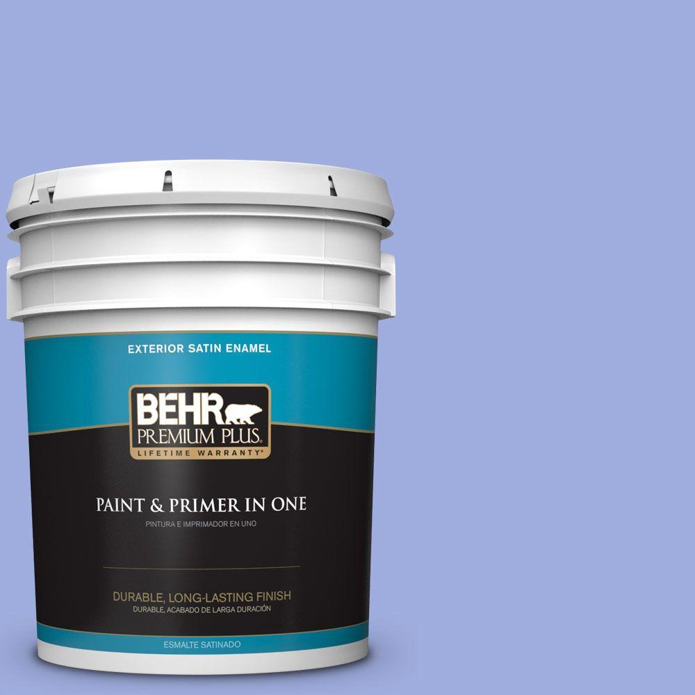 BEHR Premium Plus 5-gal. #P540-4 Lavender Sky Satin Enamel Exterior Paint