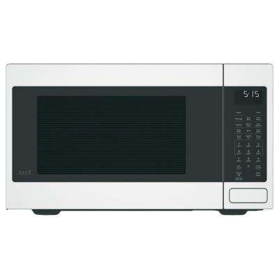 1.5 cu. ft. Countertop Convection Microwave with Sensor Cooking in Matte White, Fingerprint Resistant