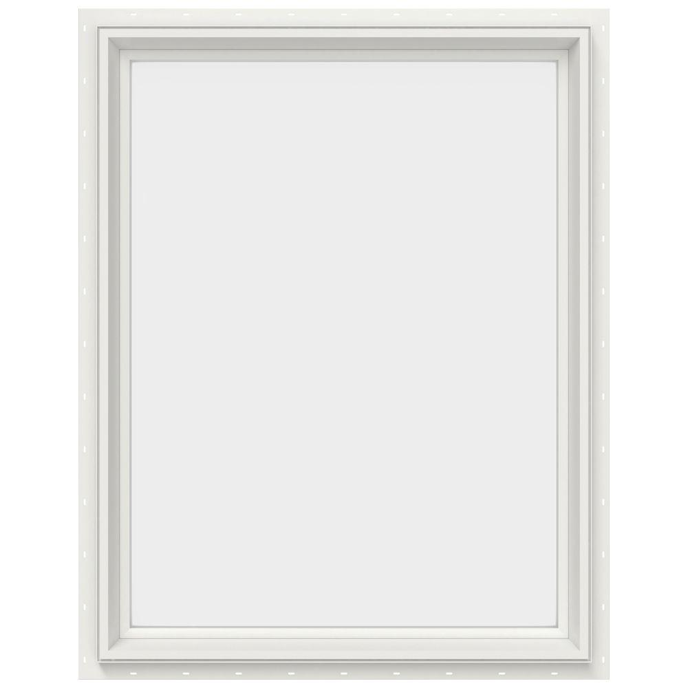 JELD-WEN 29.5 in. x 35.5 in. V-2500 Series Fixed Picture Vinyl Window - White