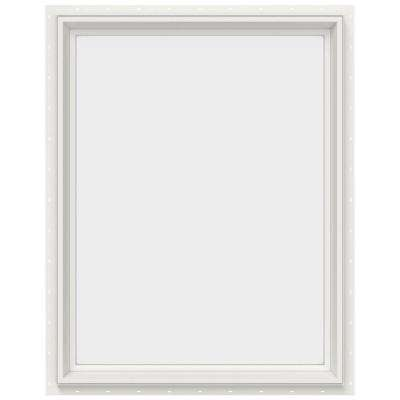 29.5 in. x 35.5 in. V-2500 Series Fixed Picture Vinyl Window - White