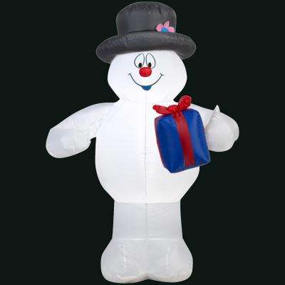 27.56 in. L x 20.47 in. W x 42.13 in. H Inflatable Frosty with Present