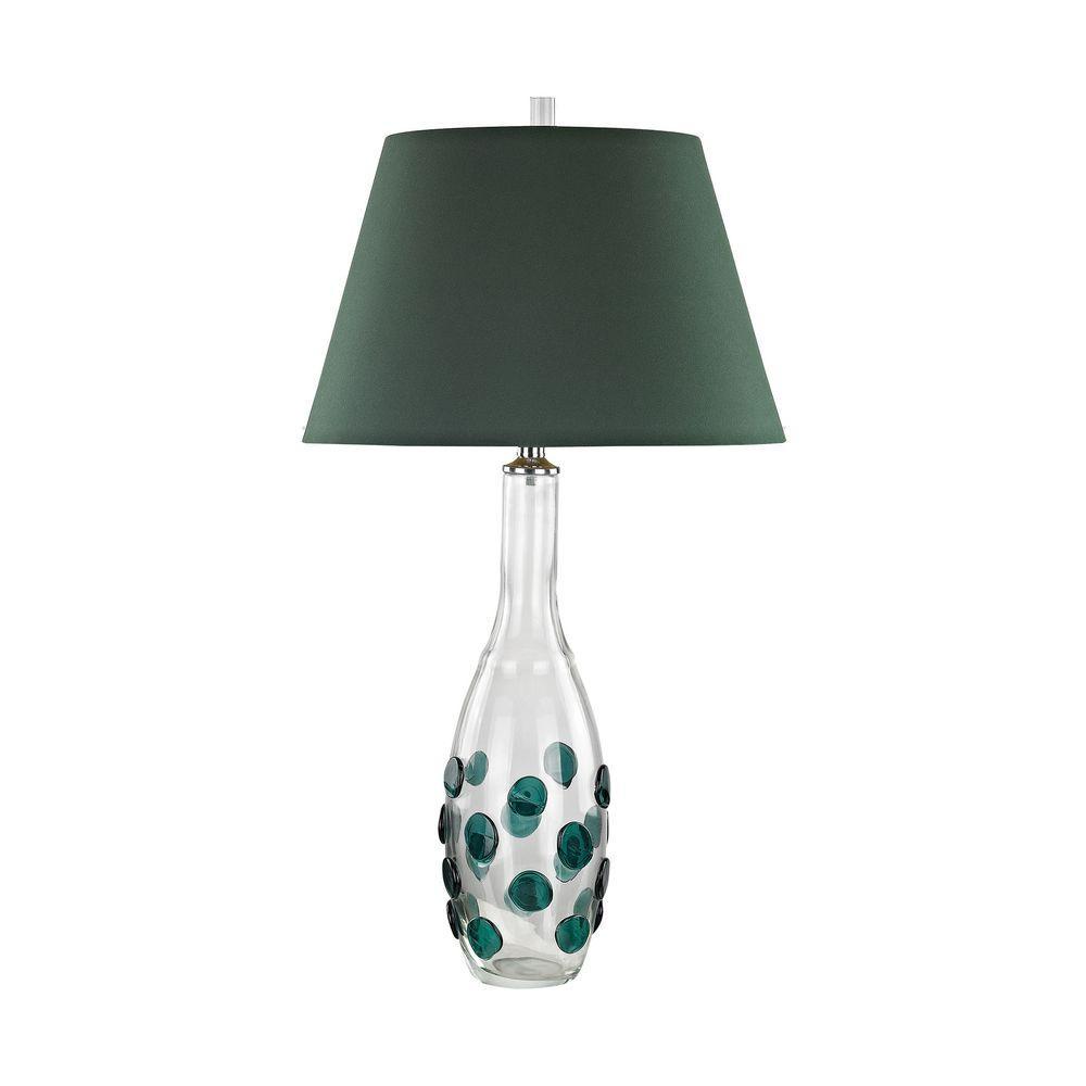 Titan Lighting Confiserie 30 In Green Table Lamp