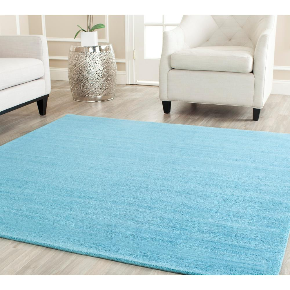 Himalaya Turquoise 4 ft. x 4 ft. Square Area Rug