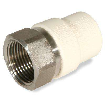 3/4 in. CPVC CTS FPT x Socket Lead Free Stainless Steel Transition Adaptor