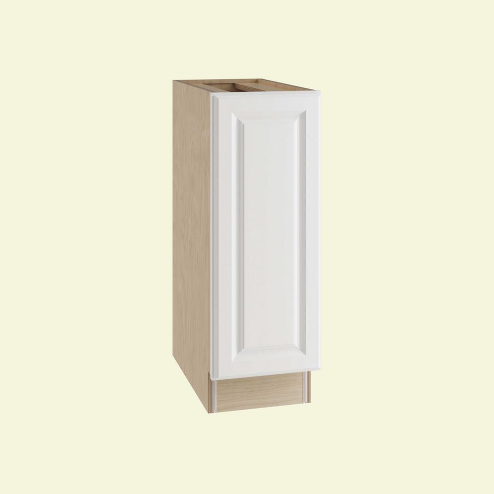 Home Decorators Collection Hallmark Assembled 9x34.5x24 in. Base Kitchen Cabinet with Full Height Door Left Hand in Arctic White
