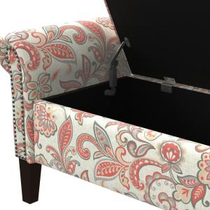 Groovy Handy Living Rose Red Multi Floral Garden Print Rolled Arm Gmtry Best Dining Table And Chair Ideas Images Gmtryco