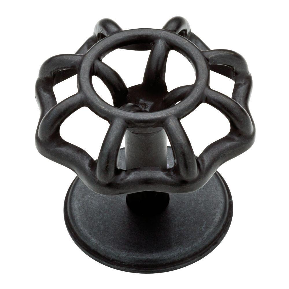 Spigot 2 in. (51mm) Soft Iron Vintage Cabinet Knob