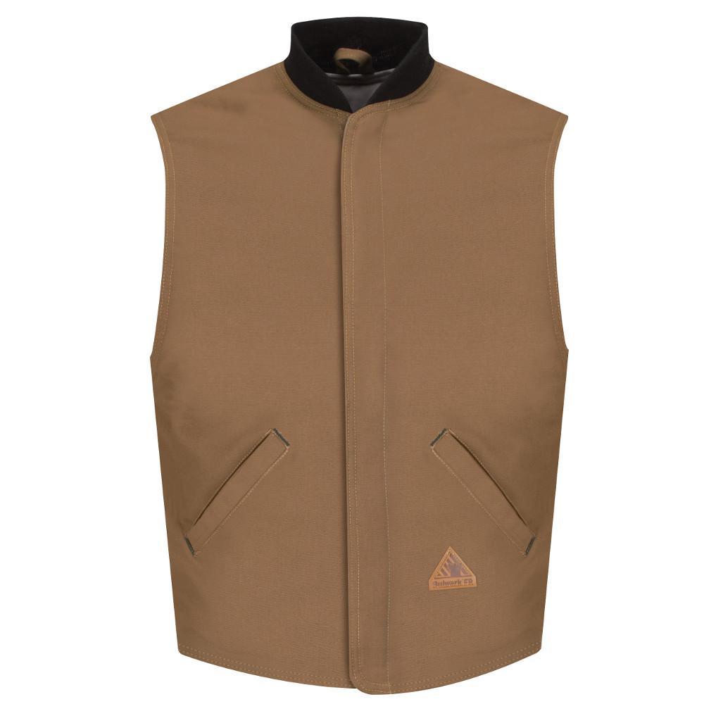 EXCEL FR ComforTouch Men's X-Large Brown Duck Brown Duck Vest Jacket Liner