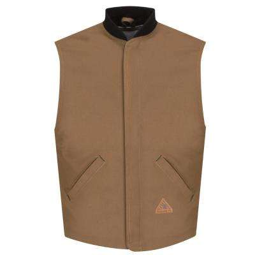 EXCEL FR ComforTouch Men's Medium Brown Duck Brown Duck Vest Jacket Liner