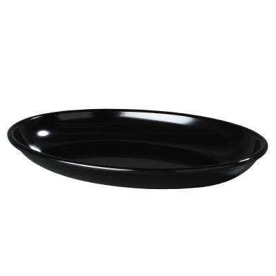 19 in. x 13.75 in. Melamine Oval Platter in Black (Case of 4)