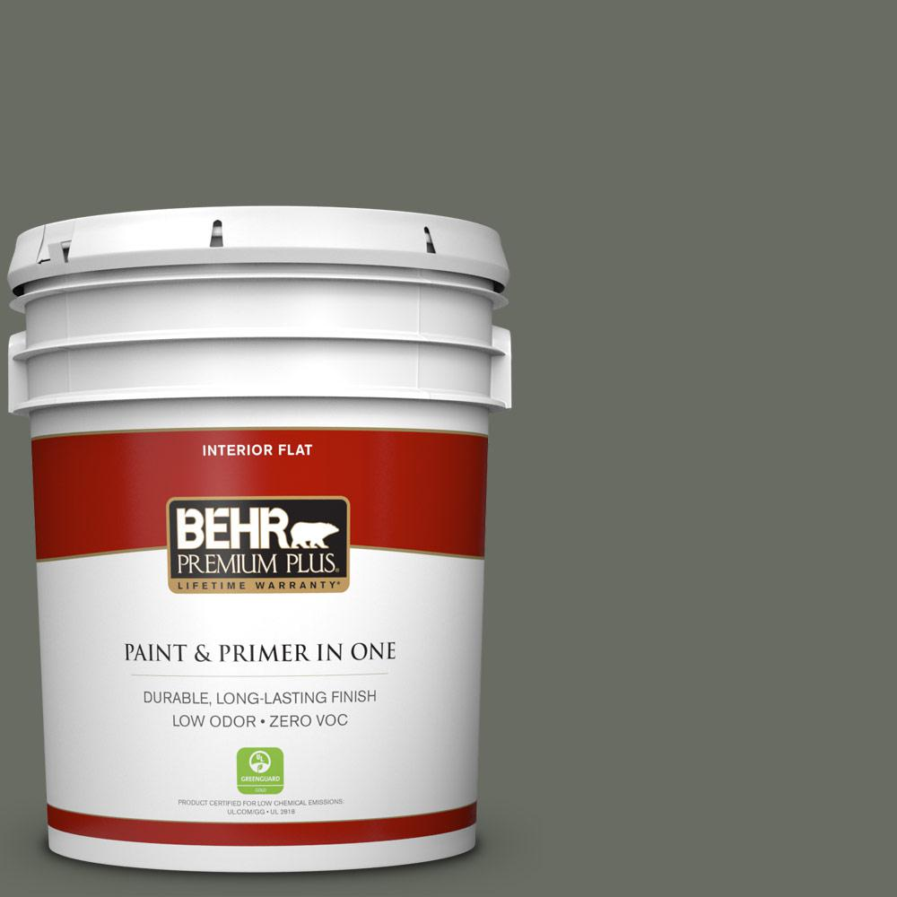 5 gal. #N380-6 Bonsai Trunk Zero VOC Flat Interior Paint