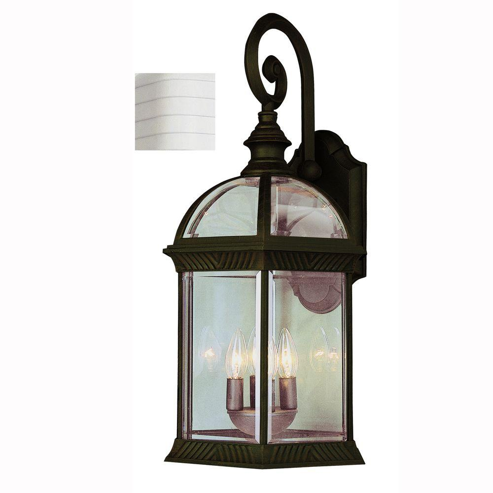 Wentworth 3-Light White Outdoor Wall Mount Lantern