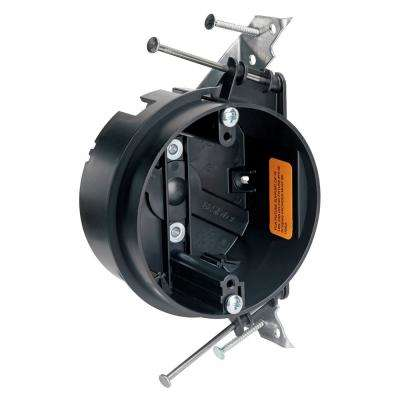 Slater 4 in. Construction Grade Round Ceiling Box with Auto/Clamps