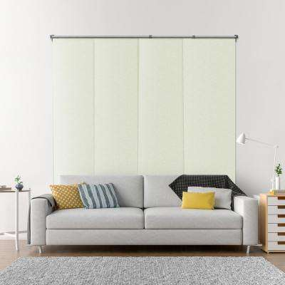 Adjustable Sliding Panel / Cut to Length, Curtain Drape Vertical Blind, Function, Blackout - Vanilla Gold Dust