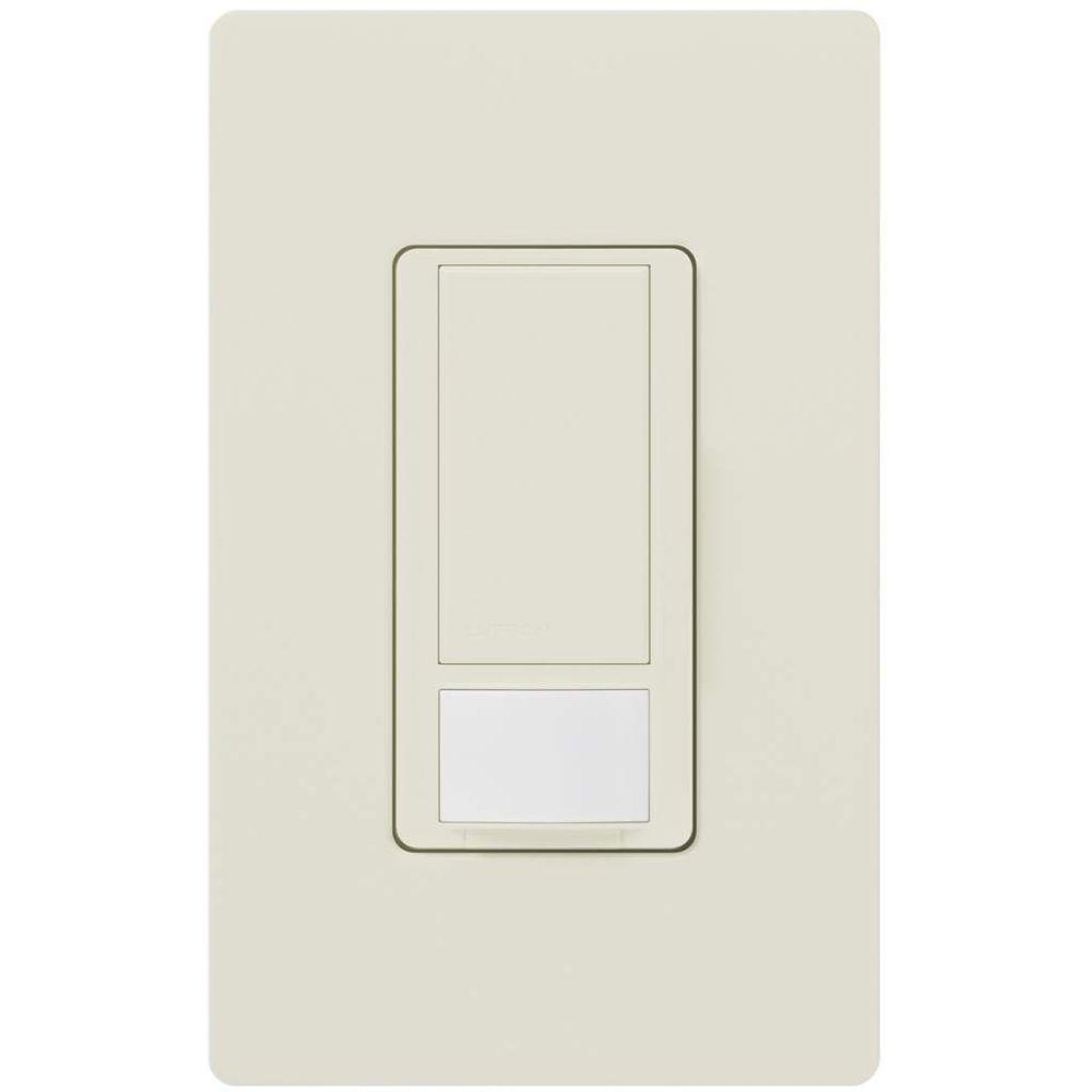 Lutron Maestro 5 Amp Vacancy Sensor Switch Single Pole Or Multi Motion Detectors Occupancy Sensors Electrical 101 Location White Ms Vps5mh Wh The Home Depot
