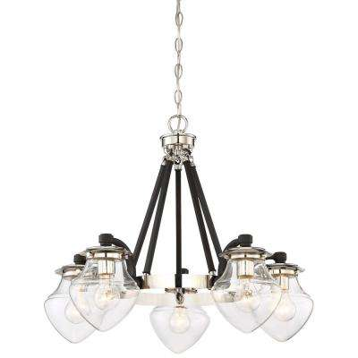 The Cape 5-Light Polished Nickel Chandelier