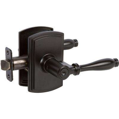 Italian Collection Sorado Black Keyed Entry Door Lever