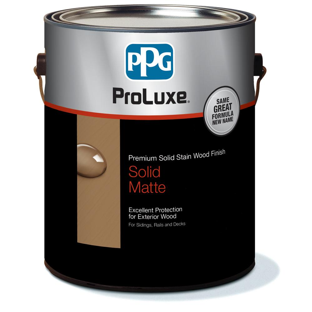 PPG ProLuxe 1 gal  #HDGSIK710-156 Cedar Rubbol Solid Wood Stain