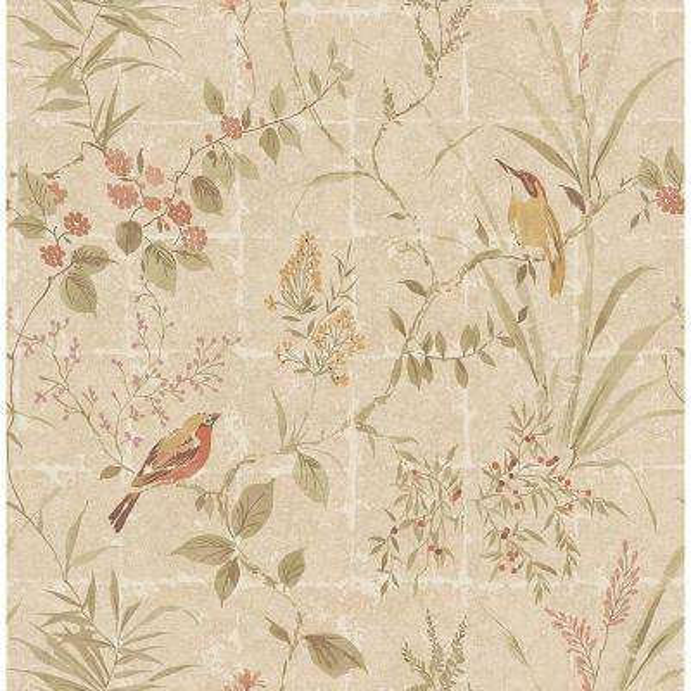 Imperial Beige Garden Chinoiserie Wallpaper