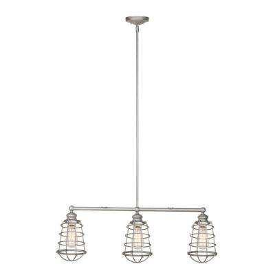 Ajax Collection 3-Light Galvanized Indoor Pendant