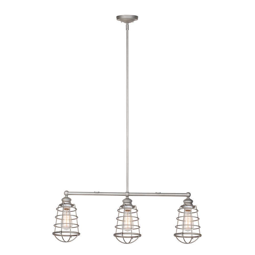 Ajax Collection 3-Light Galvanized Indoor Pendant