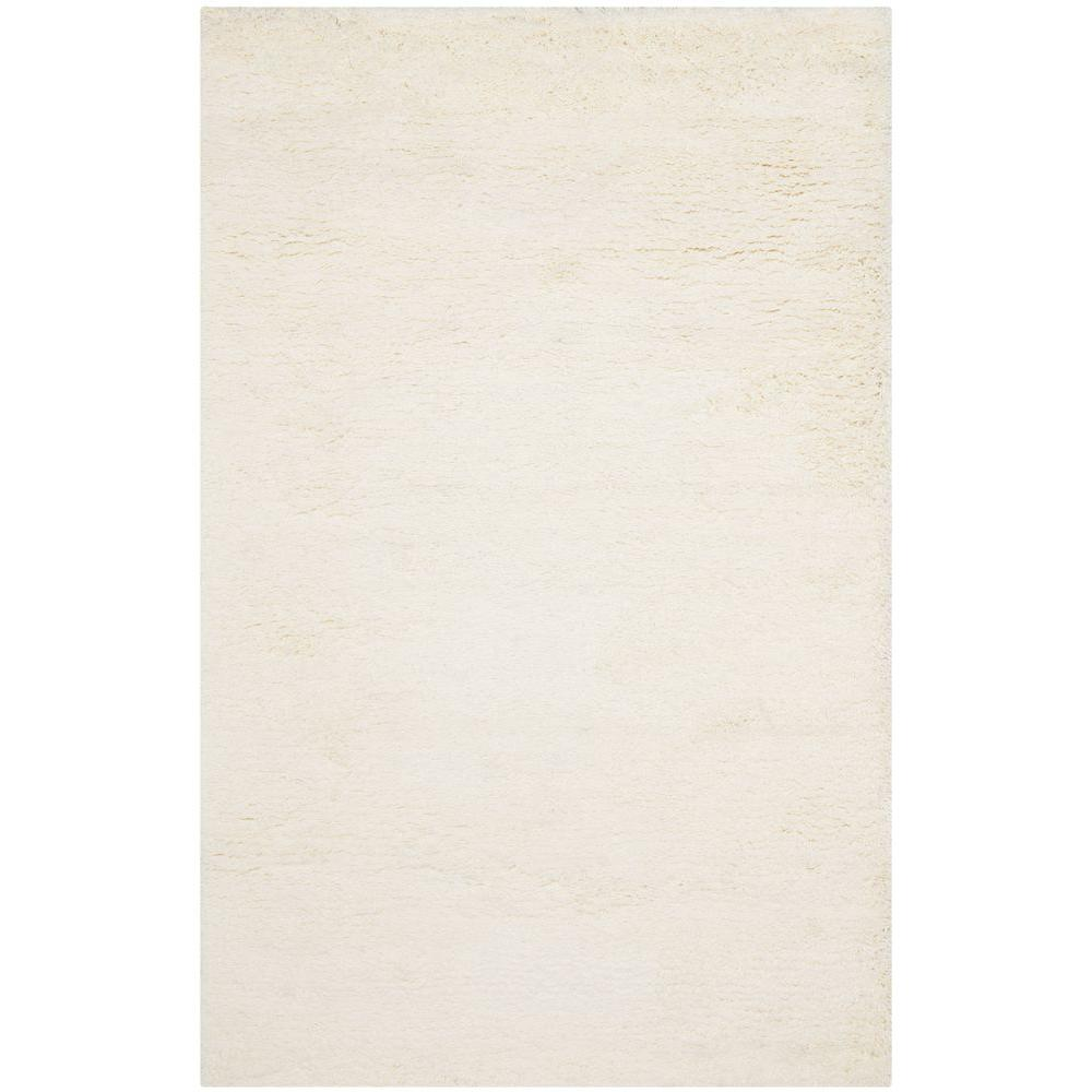 Safavieh Classic Shag White 8 ft. 6 in. x 11 ft. 6 in. Area Rug
