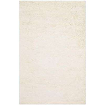 Classic Shag White 8 ft. 6 in. x 11 ft. 6 in. Area Rug