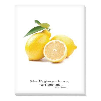 "22 in. x 28 in. ""Lemons"" Printed Canvas Wall Art"