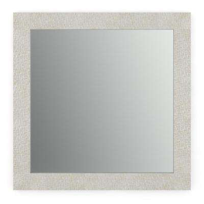 33 in. x 33 in. (L2) Square Framed Mirror with Standard Glass and Easy-Cleat Float Mount Hardware in Stone Mosaic