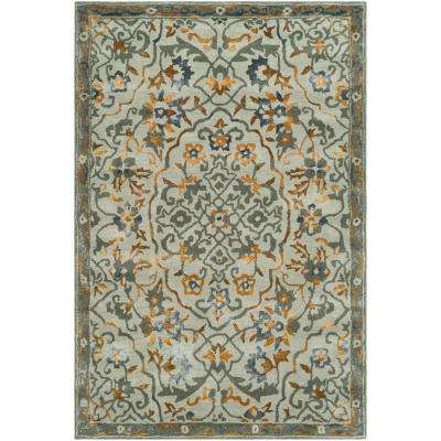 Bella Gray/Gold 4 ft. x 6 ft. Area Rug