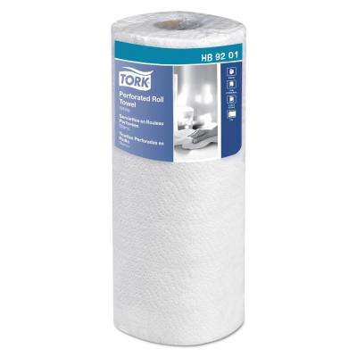 11 in. W x 6-3/4 in. L 2-Ply White Handi-Size Perforated Roll Towel (120/Roll, 30/Carton)