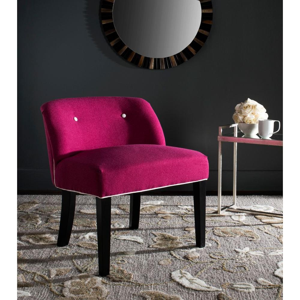 Safavieh Bell Berry/White Vanity Chair MCR4203A