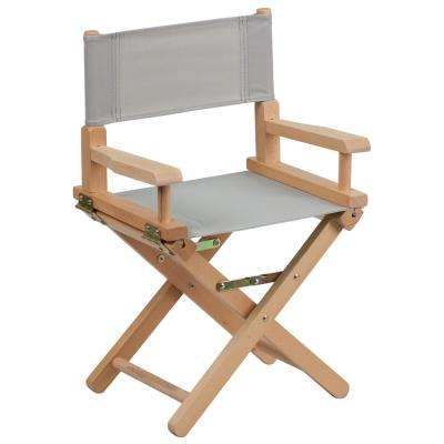 Kid Size Directors Chair in Gray