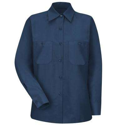 Women's Size S Navy Industrial Work Shirt