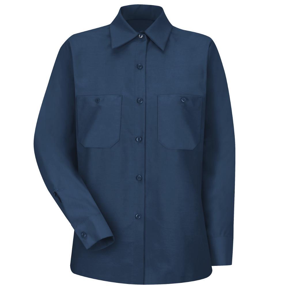 Women's Size XL Navy Industrial Work Shirt