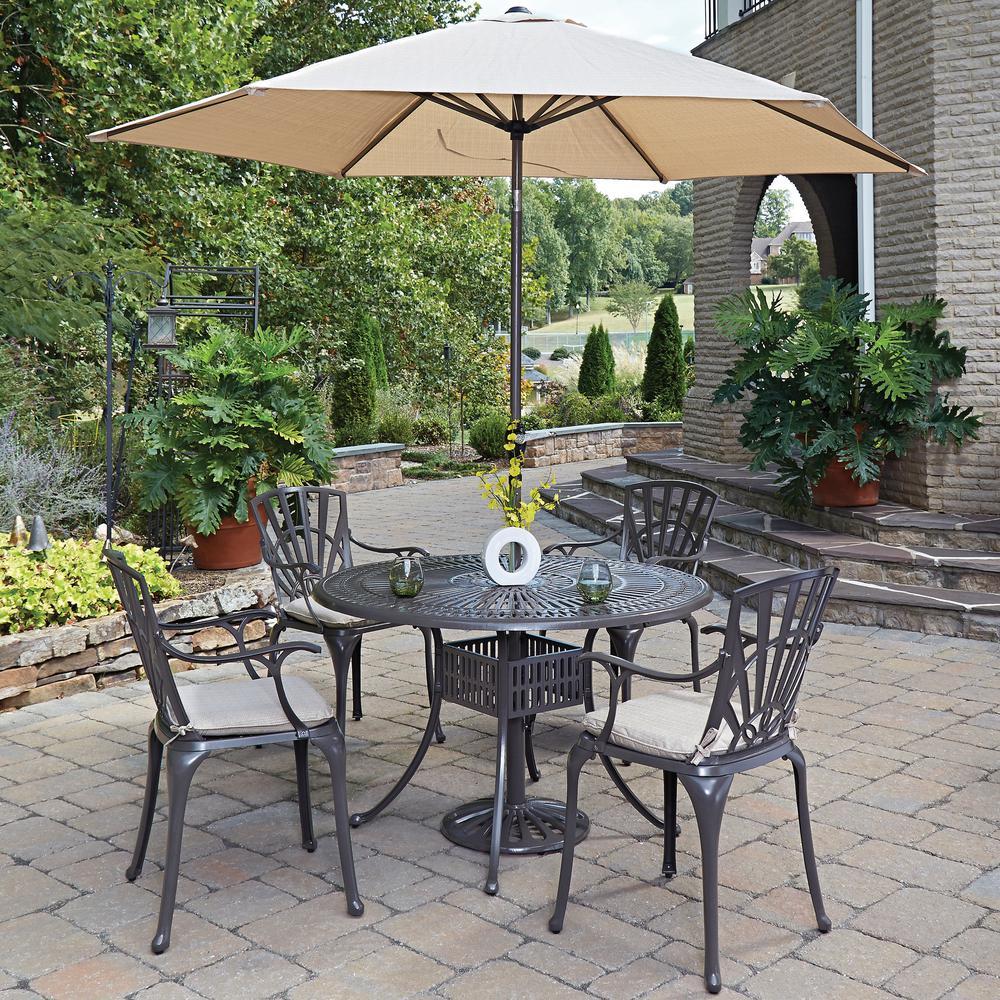 Garden Oasis Providence 5 Piece Swivel Dining Set: Home Styles Largo 5-Piece Patio Dining Set With Umbrella