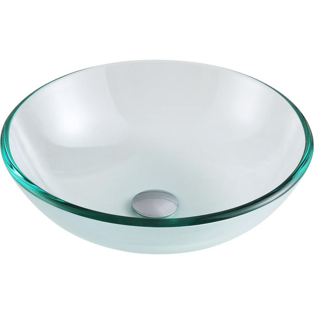 Etude Series Vessel Sink in Lustrous Clear